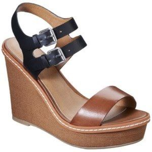 Mossimo Patricia Wedge sandals in Black